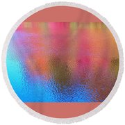 Fall Reflections In South Round Beach Towel