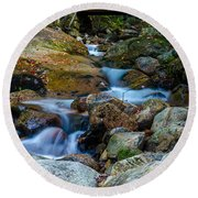 Fall Scene In Nh Round Beach Towel by Mike Ste Marie