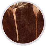 Fall Time - Autumn Crocus Meadow Safran Round Beach Towel