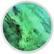 Round Beach Towel featuring the mixed media Fallen by Ally  White