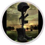 Fallen Soldiers Memorial Round Beach Towel