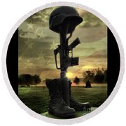 Fallen Soldiers Memorial Round Beach Towel