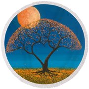 Falling For You Round Beach Towel