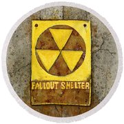 Fallout Shelter #1 Round Beach Towel