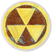 Fallout Shelter #2 Round Beach Towel