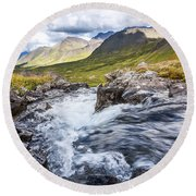 Falls With A View Round Beach Towel