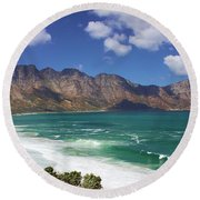 False Bay Drive Round Beach Towel