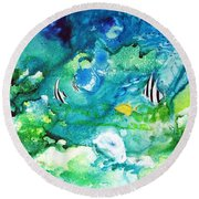Fantasy Sea Round Beach Towel