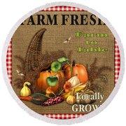 Farm Fresh-jp2384 Round Beach Towel