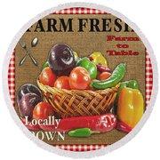Farm Fresh-jp2385 Round Beach Towel