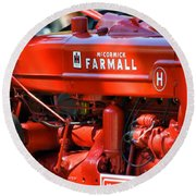 Farm Tractor 11 Round Beach Towel by Thomas Woolworth