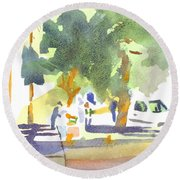 Farmers Market Vi Round Beach Towel