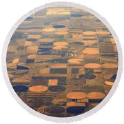 Farming In The Sky 2 Round Beach Towel