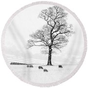 Farndale Winter Round Beach Towel by Janet Burdon