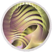 Fascinatio Lucis - Abstract Art Round Beach Towel