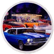 Fast Freds Round Beach Towel by Bruce Kaiser