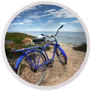 Fat Tire Round Beach Towel