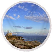 Favignana - Lighthouse Round Beach Towel