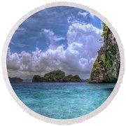 Favorite Color Blue Round Beach Towel