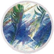 Feather Dance Round Beach Towel