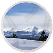 February Wind Round Beach Towel
