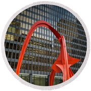 Federal Plaza Chicago Il Round Beach Towel