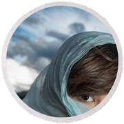 Feminine Mysteries Round Beach Towel