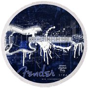Fender Blueprint Washout Round Beach Towel