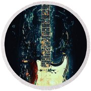 Fender Strat Round Beach Towel