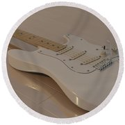 Fender Stratocaster In White Round Beach Towel
