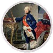 Ferdinand Iv, King Of Naples Round Beach Towel