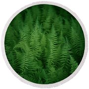 Fern Bed Round Beach Towel