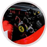 Ferrari Formula 1 Cockpit Round Beach Towel