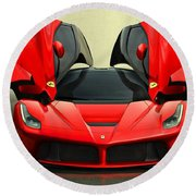 Ferrari Laferrari F 150 Supercar Round Beach Towel