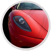 Round Beach Towel featuring the photograph Ferrari by Vicki Spindler