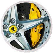Ferrari Wheel 3 Round Beach Towel