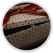 Round Beach Towel featuring the photograph Ferrety Christmas by Cassandra Buckley