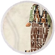 Ferris Bueller's Day Off Round Beach Towel by Ayse Deniz