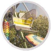 Ferris Wheel Bucket Round Beach Towel by Cindy Garber Iverson
