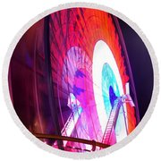 Round Beach Towel featuring the digital art Ferris Wheel by Gandz Photography