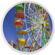 Round Beach Towel featuring the photograph Ferris Wheel by Marcia Socolik