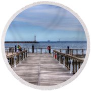 Ferry I See You Round Beach Towel