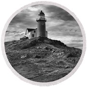 Ferryland Lighthouse Round Beach Towel by Eunice Gibb