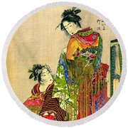 Festival Costumes 1785 Round Beach Towel by Padre Art