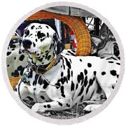 Festival Dog Round Beach Towel