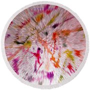 Festival Of Colours Round Beach Towel