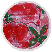 Round Beach Towel featuring the painting Festive Garden 2 by Jocelyn Friis