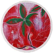 Round Beach Towel featuring the painting Festive Garden 3 by Jocelyn Friis