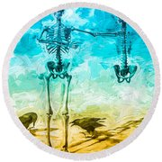 Fickle Finger Of Fate Round Beach Towel
