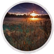 Field Of Dreams Round Beach Towel by Suzanne Stout